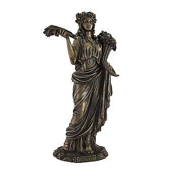 Deusa grega da colheita Deméter bronze estátua