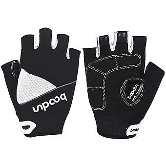 New Style Men's Mountain Bike Road Racing Gloves, High-quality Cycling Half-finger Gloves-white