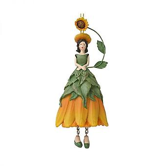 Blomma Fairy solros figurin för hängande