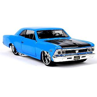 Toy cars 1:24 modified version highly detailed die cast precision model car model blue