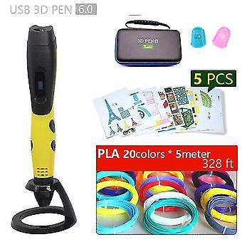 Autentisk 3d penna 3d tryckpenna och 1.75mm pla filament julklappar + måla ritningar + gratis