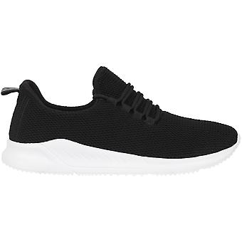 Fabric Mens Santo Eco Trainers Low Sports Shoes Breathable Knitted Upper