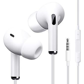 Wired Earbuds, Earbuds With Microphone And Volume Control, In Ear Ergonomic Noise Isolating Headphones, Earphones With 3.5mm Jack(white)