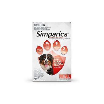 Simparica XLarge koira 40,1-60kg punainen 3pk