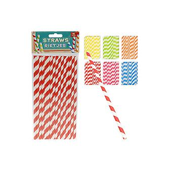 Party favors  Straws Striped 16 pieces