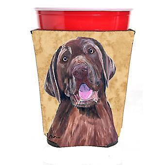 Carolines Treasures  SC9127RSC Labrador Red Solo Cup Beverage Insulator Hugger
