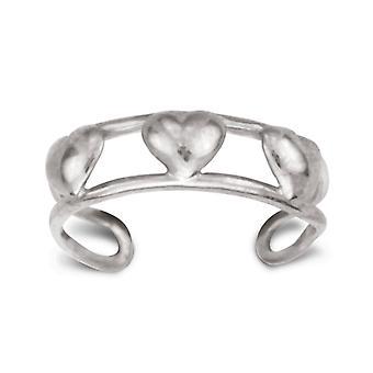 14k White Gold Verstelbare dubbele rij met Dolphin Body Sieraden Te Ring Sieraden Geschenken voor vrouwen