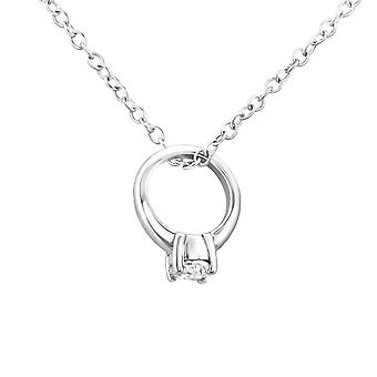 Ring - 925 Sterling Silver Jewelled Necklaces - W27112X