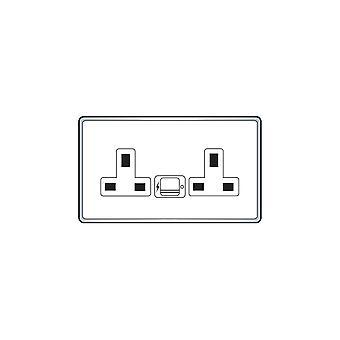 Hamilton Litestat Hartland Gloss White SP SS2 + USBx2 WH/WH