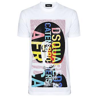 Dsquared2 DSQUARED2 Graphic T-Shirt blanc