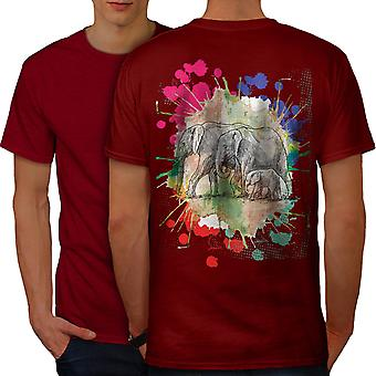 Elephant Family Men RedT-shirt Back | Wellcoda