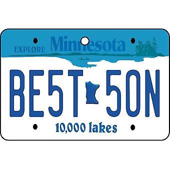 Minnesota - Best Dad License Plate Car Air Freshener