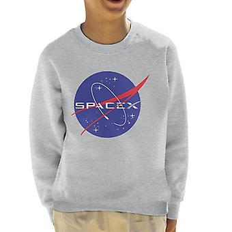 Elon Musk Nasa Spacex logotyp Mix Kids tröja