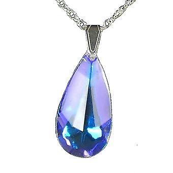 Aurora Borealis Medium Icicle Pendant Crystal