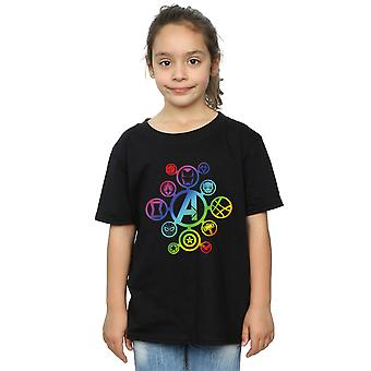 Marvel Girls Avengers Infinity War Rainbow Icons T-Shirt
