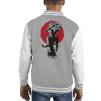 Dragon Ball Z Gohan Ssj2 Red Sun Kid's Varsity Jacket