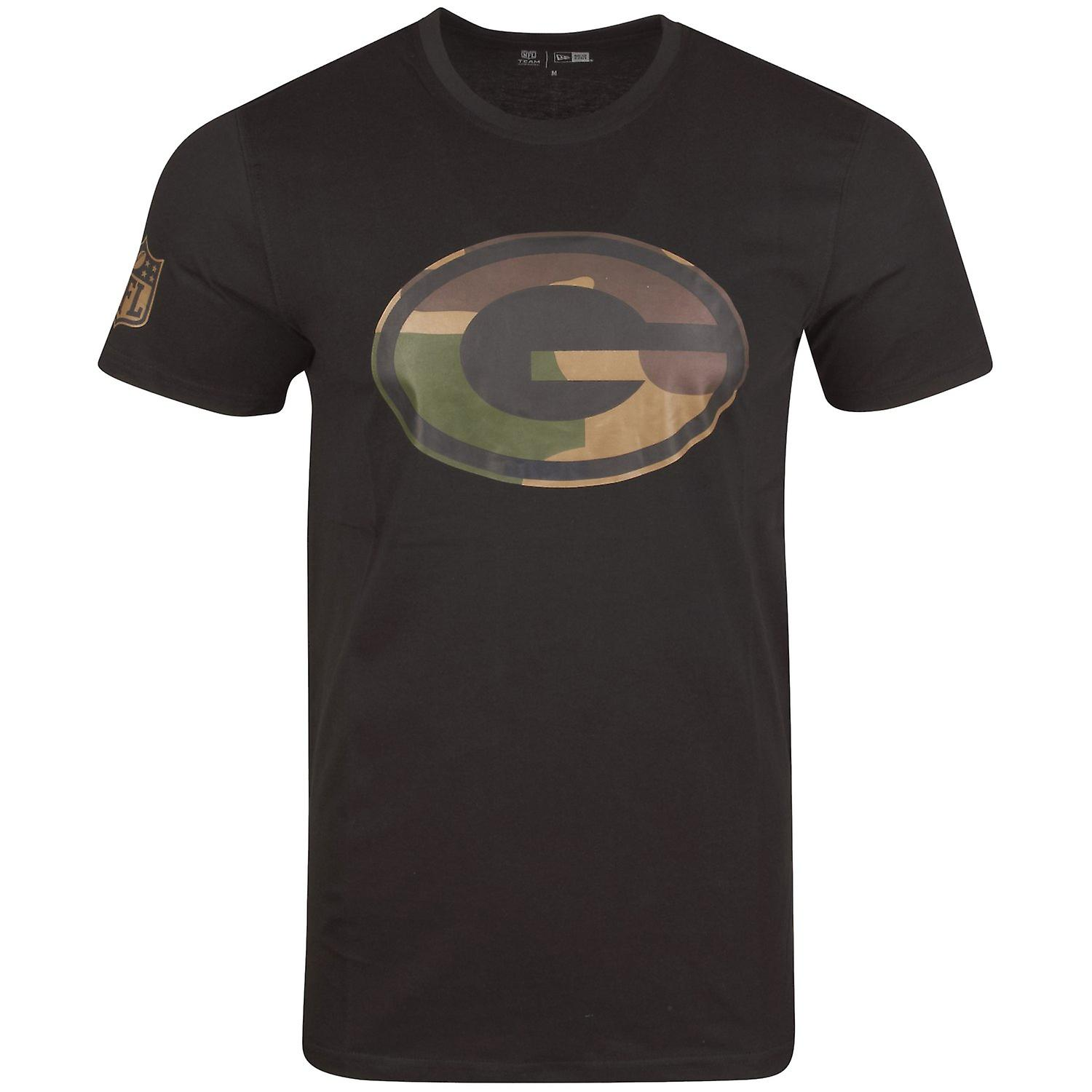 NFL Green Bay Packers schwarz New Era Camo Shirt