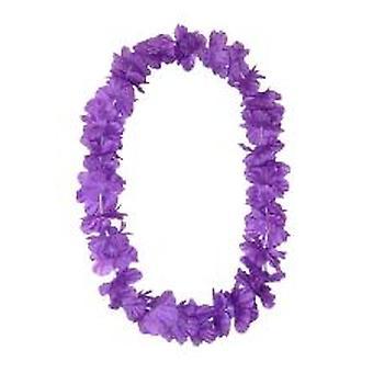 Wyspy Hawajskie Lei jedwabiście kwiat Garland - fioletowy