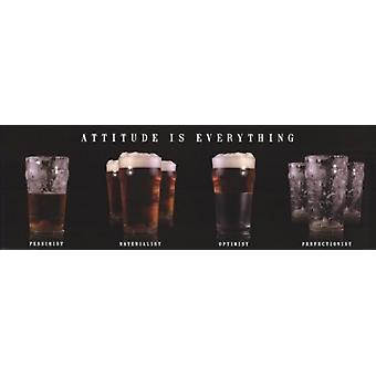Inställning är allt - öl affisch affisch Skriv