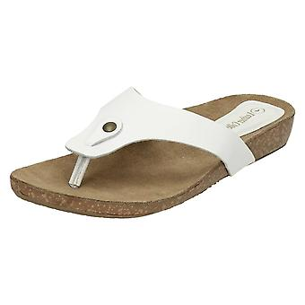 Womens cuir Collection Casual Toe Post sandales