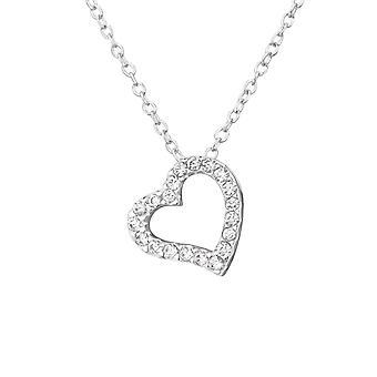 Herz - jeweled 925 Sterling Silber Ketten - W33891x