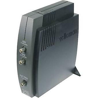 Velleman PCSU1000 USB Oscilloscope 60 MHz 2-channel 50 MSa/s 4 KP 8 Bit Digital storage (DSO), Spectrum analyzer