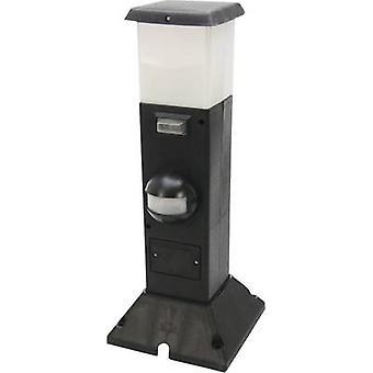 Heitronic 35111 Shanghai Outdoor free standing light (+ motion detector) LED (monochrome) E14 15 W Black