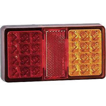 SecoRüt Trailer tail light Brake light, Reflector , Turn signal, Tail light left , right 12 V, 24 V Clear glass