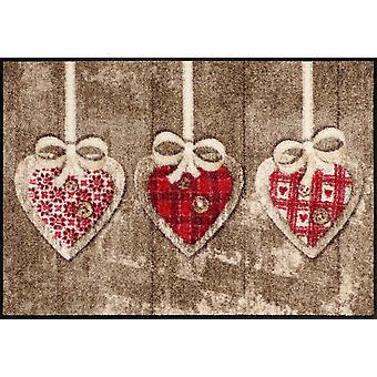 Salon lion heart pendant 50 x 75 cm, washable mats floor mats