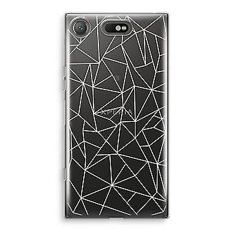 Sony Xperia XZ1 Compact Transparant cas (doux) - lignes géométriques blancs