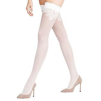 Falke Ceremonial 15 Den Stay Up Stockings - Ivory