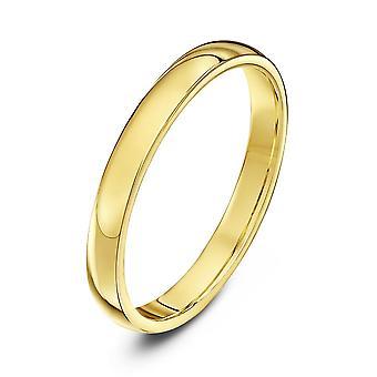 Tähti vihkisormuksista 18ct keltainen kulta raskas tuomioistuimen muoto 2,5 mm vihkisormus