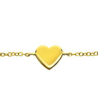 Coração - pulseiras de corrente prata esterlina 925 - W23541x
