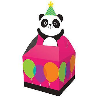 Panda party gift box cardboard party bag 9 x 9 x 23 cm 8pcs Panda party birthday decoration