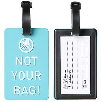 "Blue "" Not your Bag "" Luggage Tag Travel Accessory Essential TRIXES"