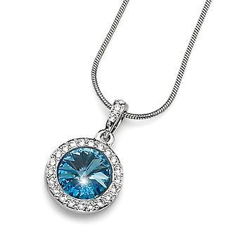 Oliver Weber Pendant Coast Rhodium Crystal