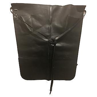 Lederen schort taille model leer zwart schort
