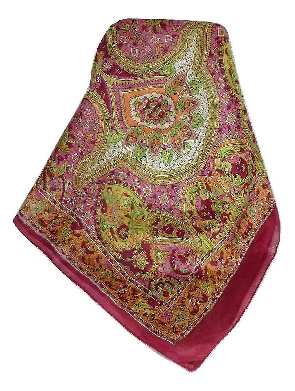 Mulberry Silk Traditional Long Scarf Rajeet Rose by Pashmina & Silk