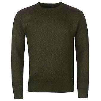 Pierre Cardin Mens molleton doublé tricoté maille pull à col chandail