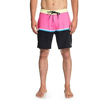 Quiksilver Highline Division 18 Mid Length Boardshorts in YELLOWIRIS