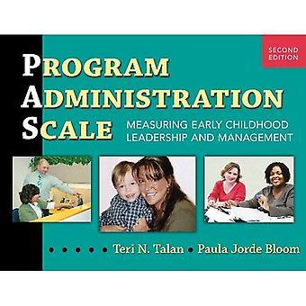 Programma administratie schaal: Meten van vroege jeugd leiderschap en Management