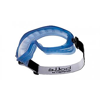 Bolle ATOAPSI Atom Goggles Blue Rubber Frame Vented Clear Anti-Scratch/Fog Lens