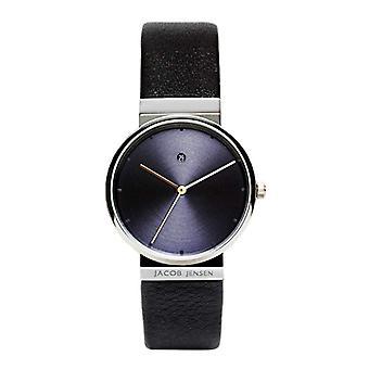 Relógio de senhoras de quartzo de Jacob Jensen analógico com couro dimensão série Item n º: 851