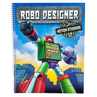 ROBO Designer Crafts Book coloring book with 3D Stickers