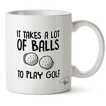 Hippowarehouse It Takes A Lot Of Balls To Play Golf Printed Mug Cup Ceramic 10oz