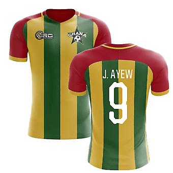 2020-2021 Ghana Home Concept Football Shirt (J. Ayew 9)