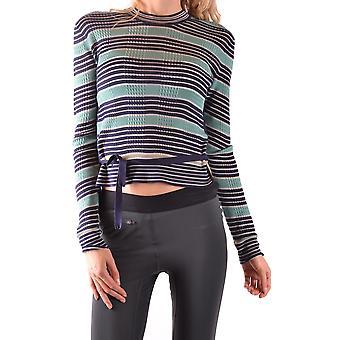 Fendi Ezbc009010 Women's Grøn Silkesweater
