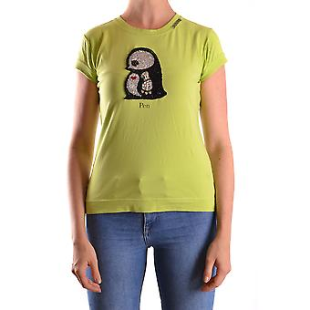 Pinko Ezbc056065 Women's Green Cotton T-shirt