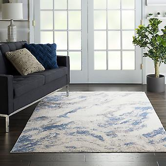 Silky Textures SLY03 Blue Ivory Grey  Rectangle Rugs Modern Rugs