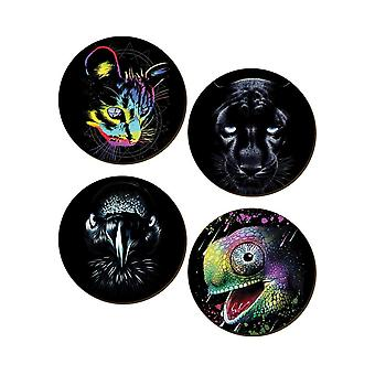 Unorthodox Collective Ferox 4 Piece Coaster Set